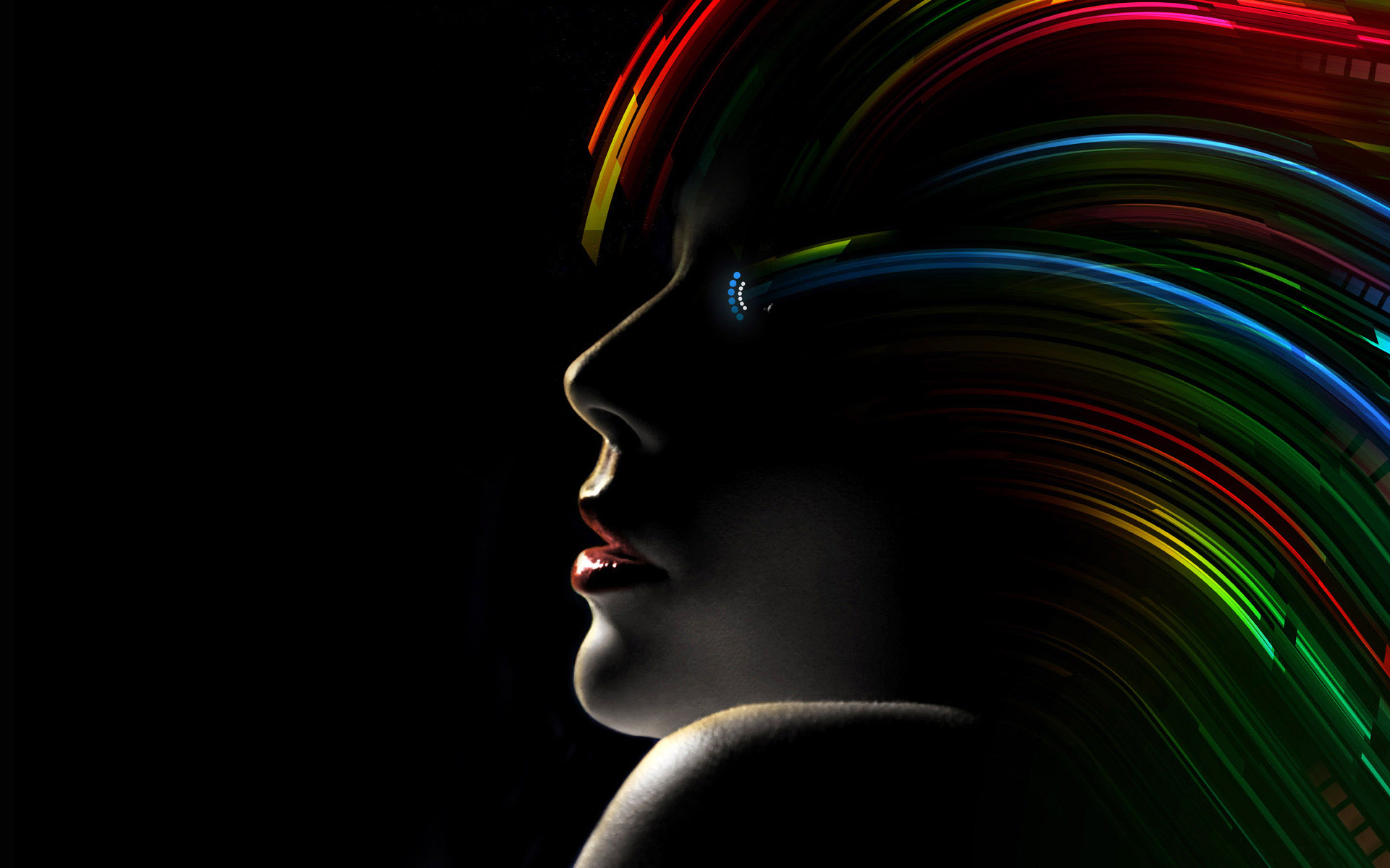 black rainbow hair hd wallpaper | hd latest wallpapers