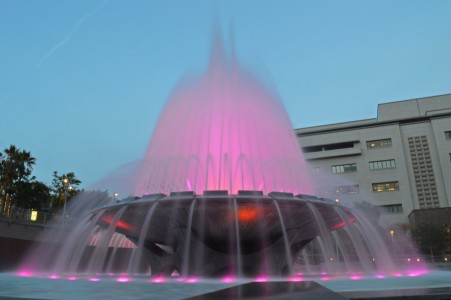 Beautiful fountain with light