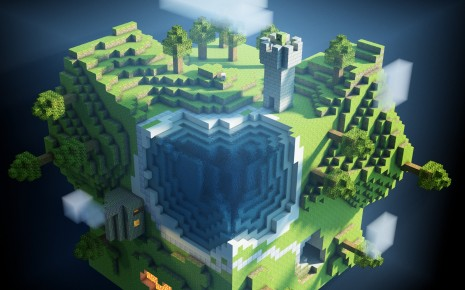 Minecraft world HD wallpaper