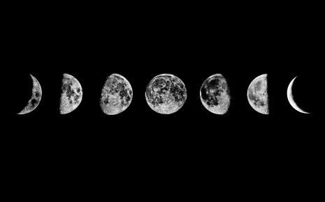 Moon Phases HD wallpaper