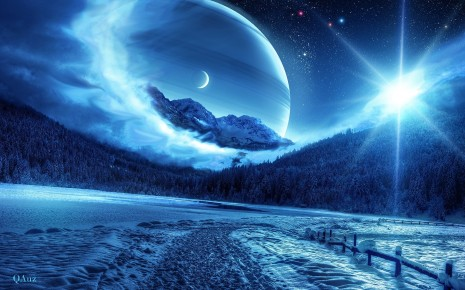 Moonlight planets hd wallpaper
