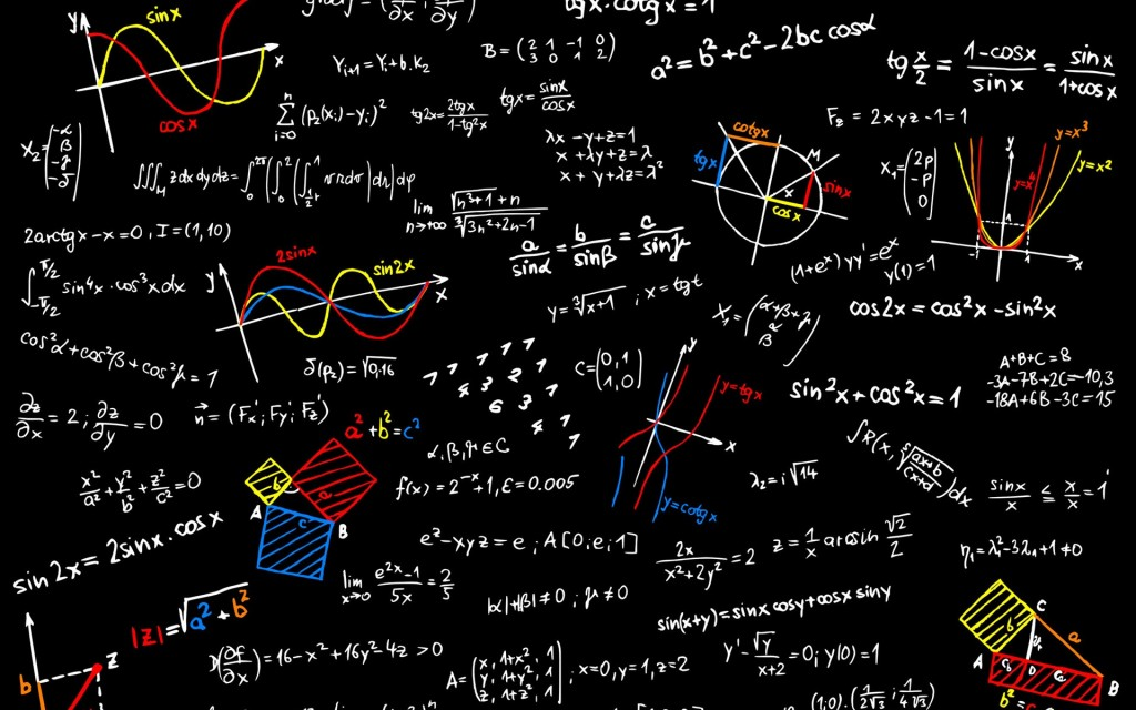 mathematics board formulas wallpaper
