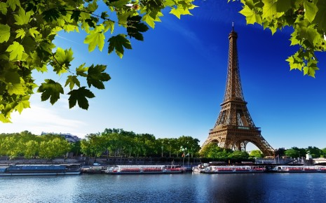 Eiffel tower paris beach trees france wallpaper