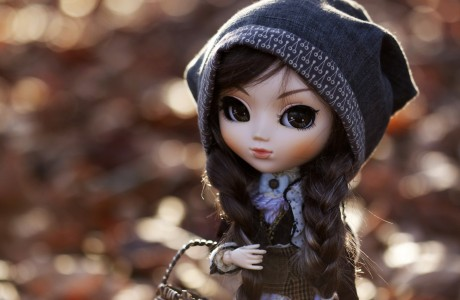 Toys Doll Little girls dolls toy redhead girl winter autumn mood wallpaper