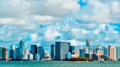 Beautiful Miami, USA clouds HD wallpaper