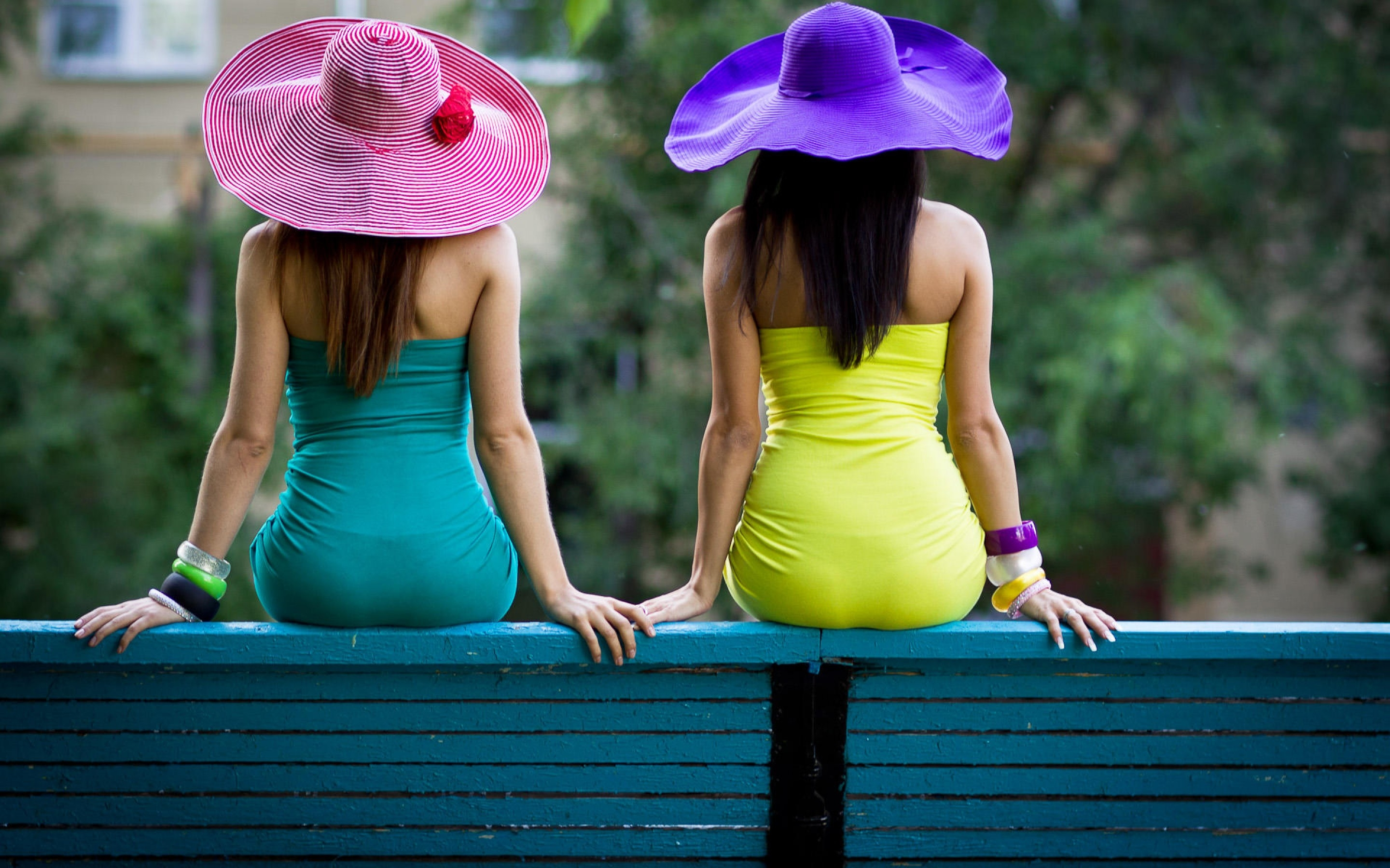 girls with sun hats hd wallpaper hd latest wallpapers