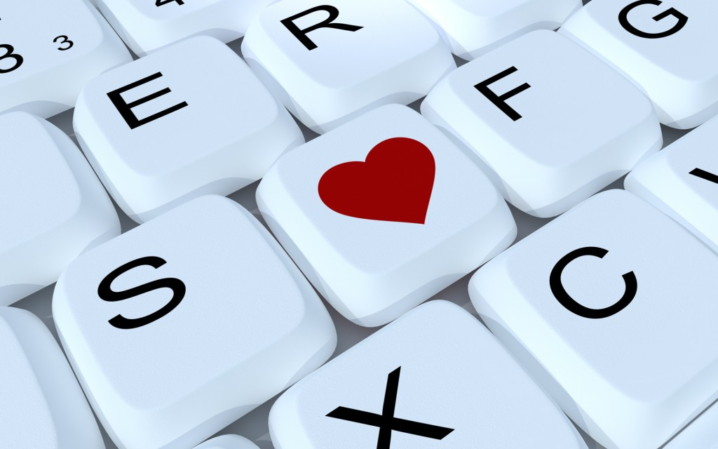 Keyboard computer love heart wallpaper