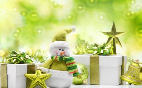 christmas new year snowman wallpaper