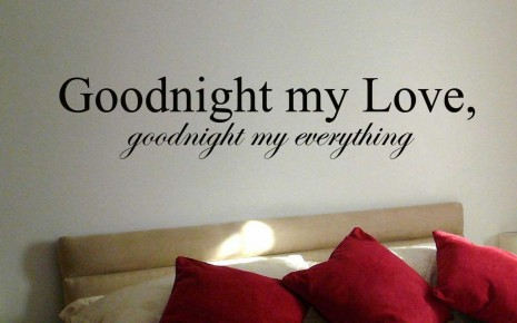 my love good night