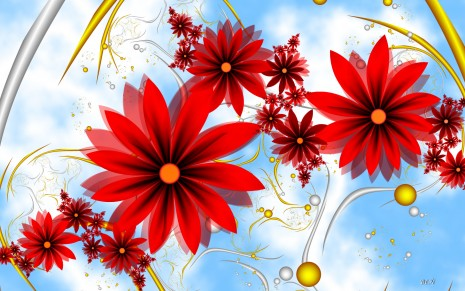 Red flowers wallpaper