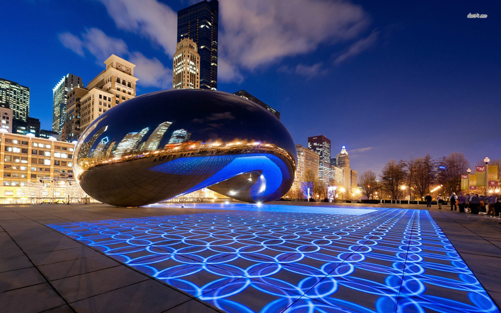 wallpapers cloud gate chicago