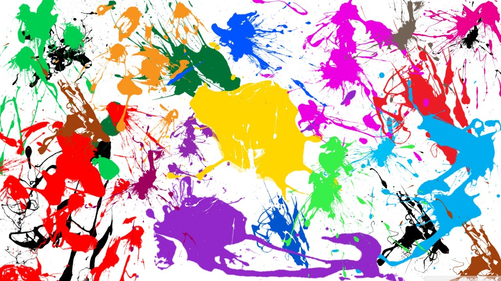 Paint splashes wallpaper