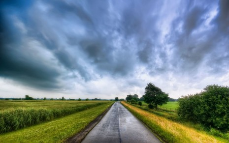Long Road Nature HD Wallpaper