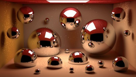 Metallic bubbles HD wallpaper