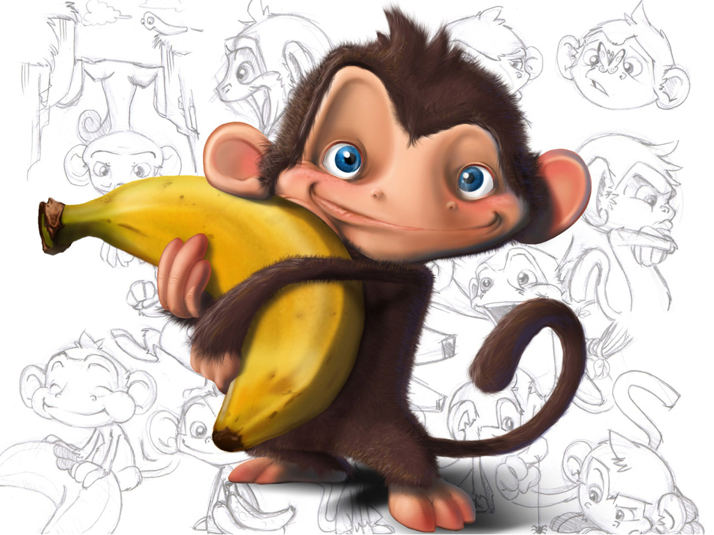 monkey with banana hd wallpaper | hd latest wallpapers