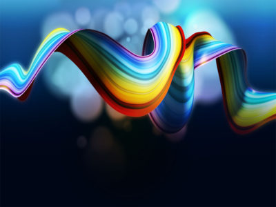 Rainbow ribbon wallpaper