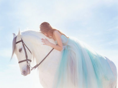 Girl-white-horse-HD-wallpapers