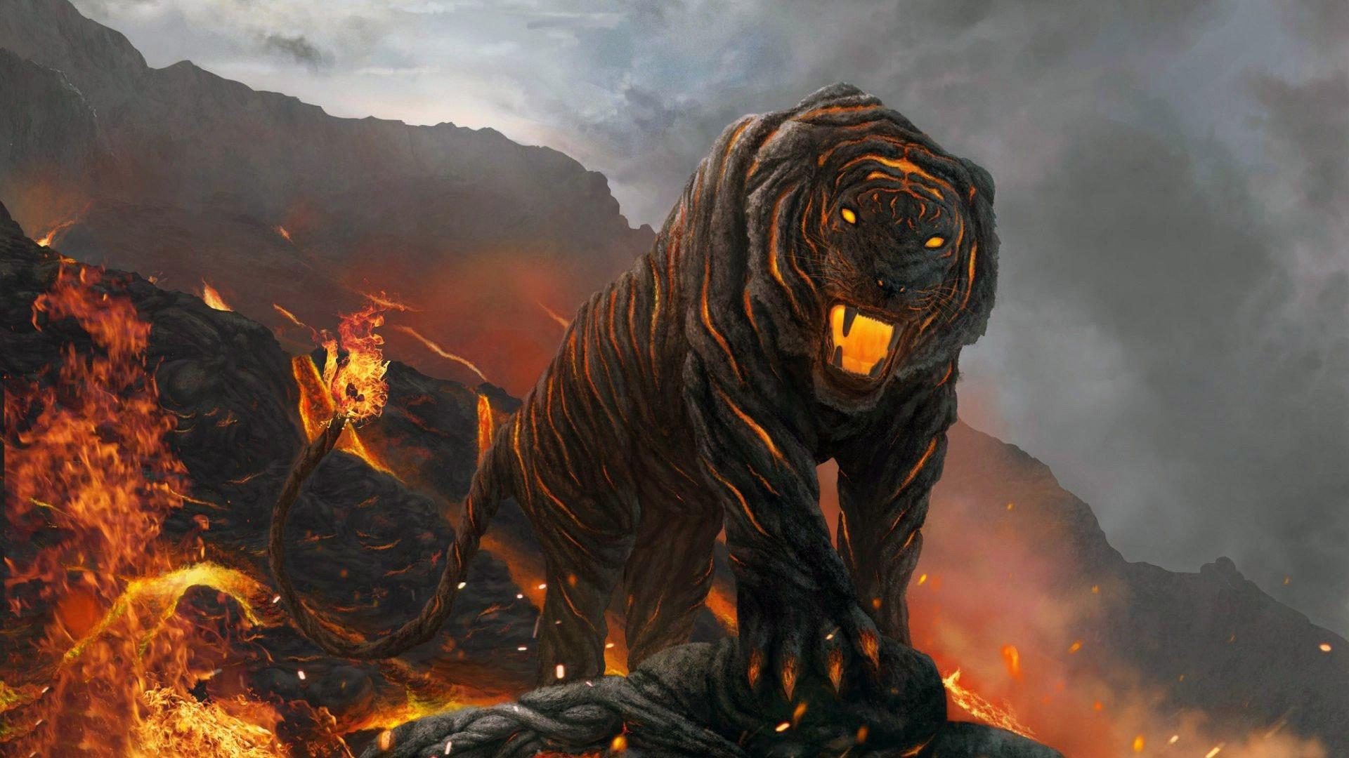 Tiger Head Fire Wallpaper Download Hd Collection | Hd Wallpapers .