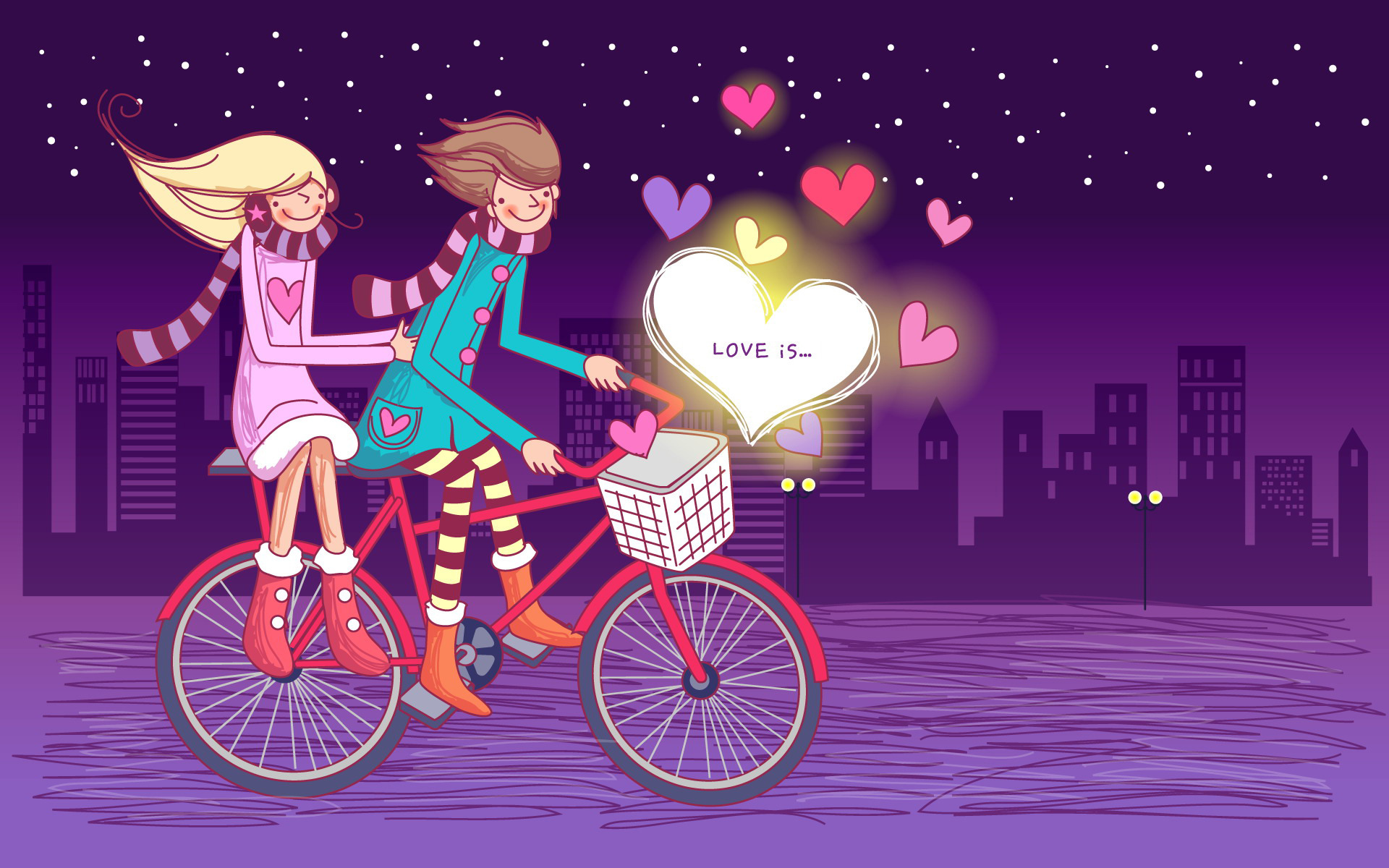 love-couple-on-bicycle-hd-wallpaper