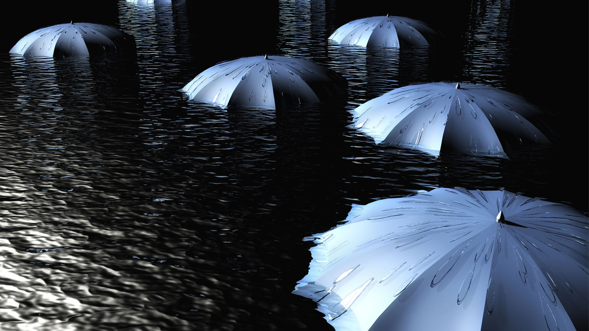 umbrellas-in-water-hd-wallpaper