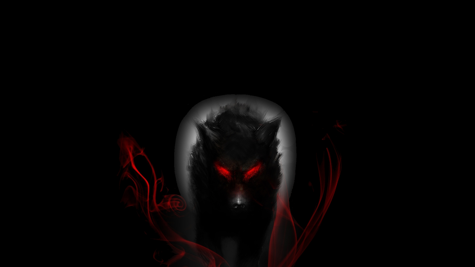 Hd wallpaper wolf - Wolf With Red Eyes Hd Wallpaper