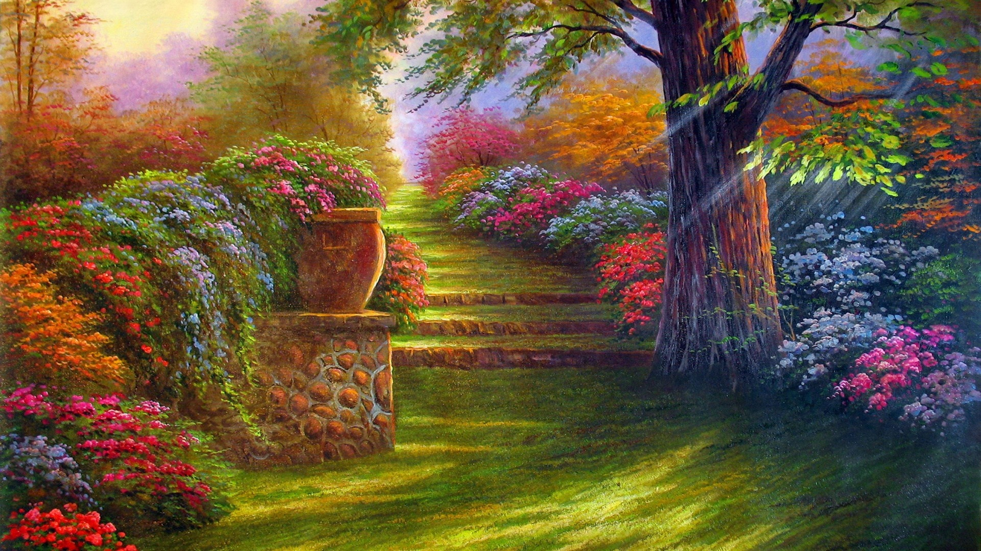 Garden Digital Art HD wallpaper | HD Latest Wallpapers