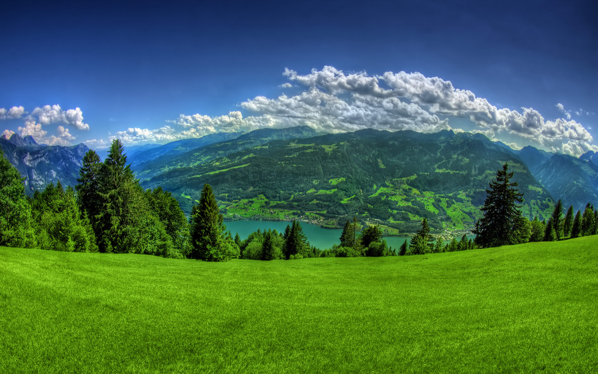 Green Mountain HD wallpaper