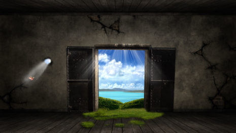 Open Door HD wallpaper