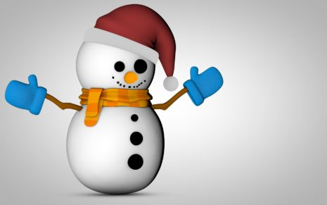Snowman 3D HD wallpaper
