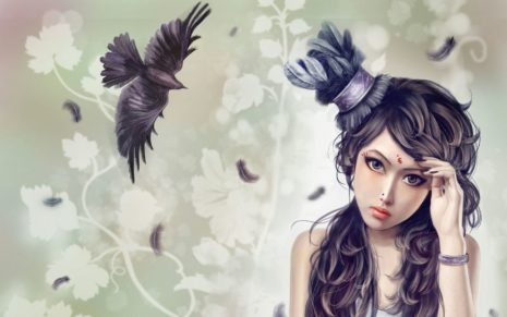 Superb woman art HD wallpaper