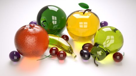 Fruits Made Of Glass HD Wallpaper