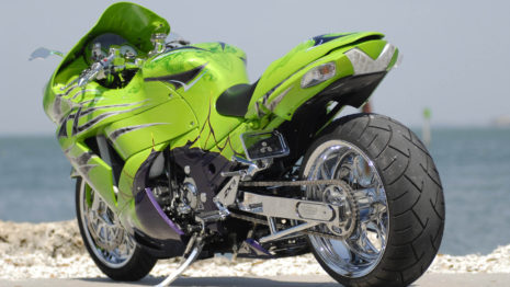 Green Bike HD Wallpaper