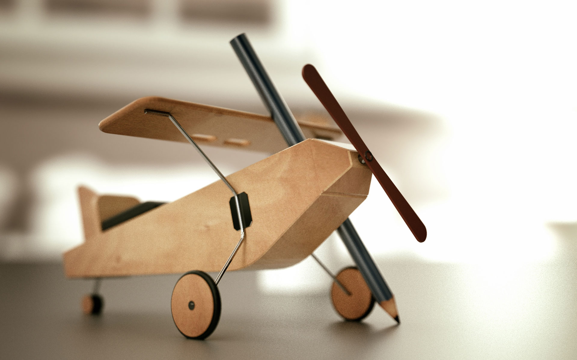 Toy Airplane HD Wallpaper