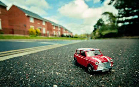 Toy Car on The Road HD Wallpaper