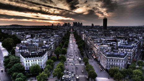 View From Arc De Triomphe HD Wallpaper