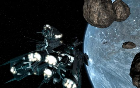 Asteroids in space HD wallpaper