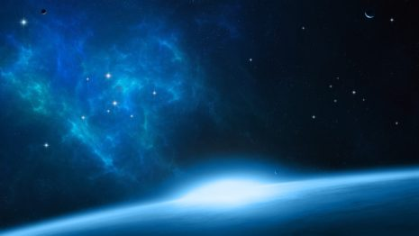 Blue Outer Space HD wallpaper
