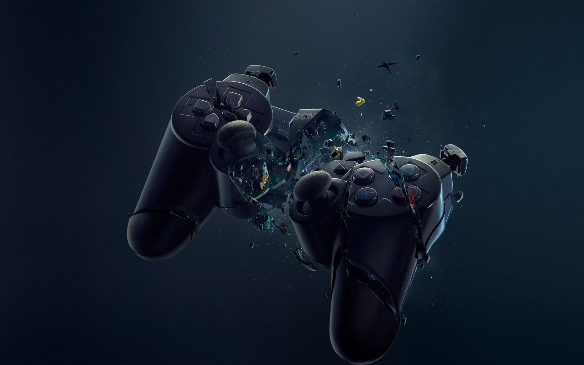 Broken Xbox Controller HD Wallpaper