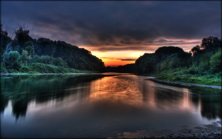 Donau sunrise HD wallpaper