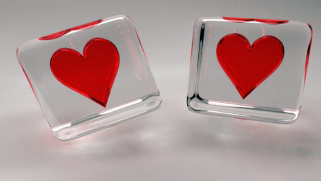 Hearts In Glass HD Wallpaper
