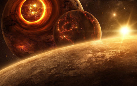 Imploding Planets HD wallpaper
