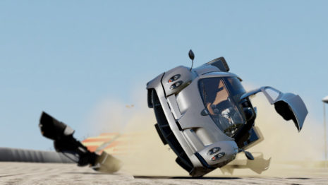 Pagani Huayra crash HD wallpaper
