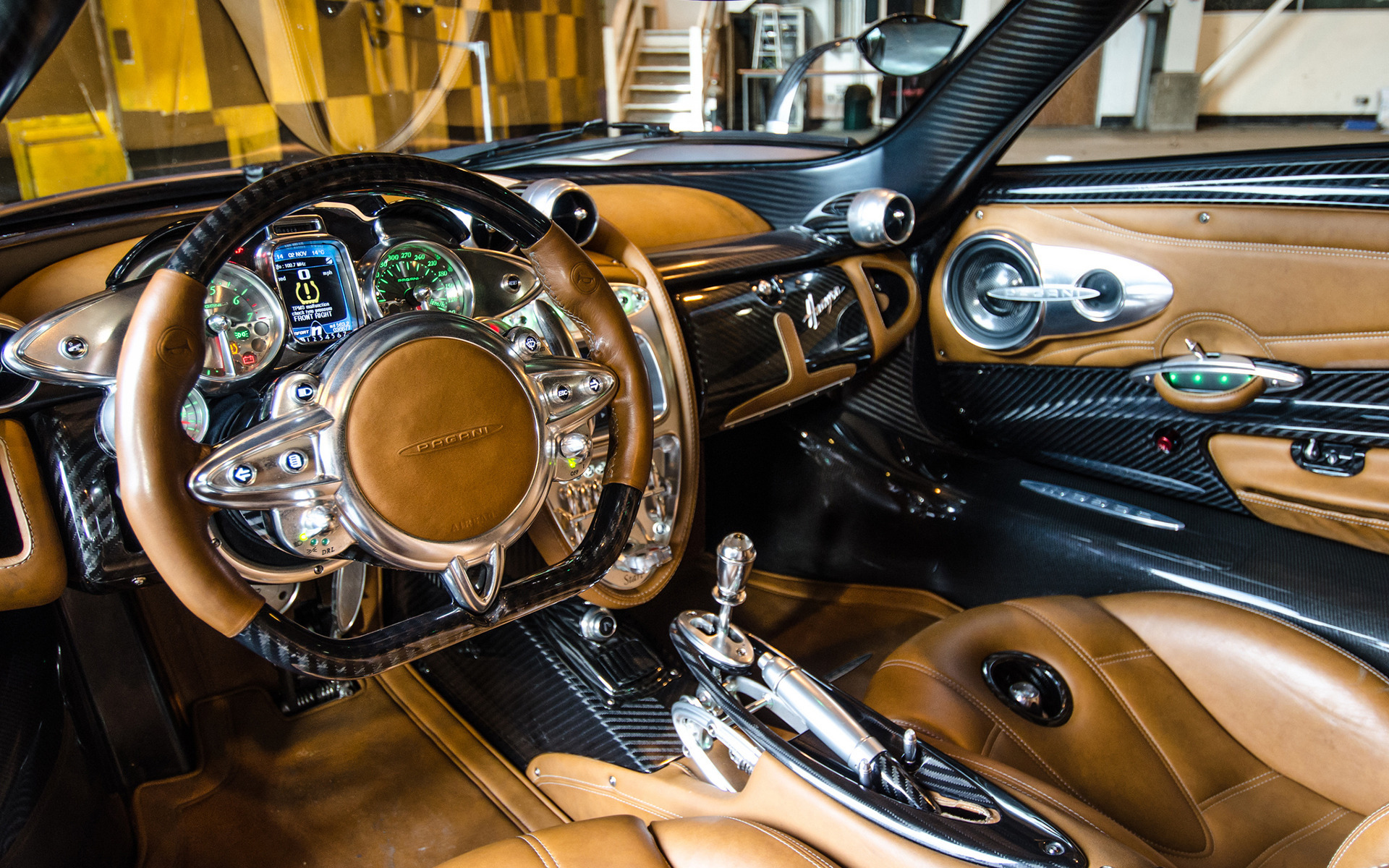Pagani Huayra Red Interior