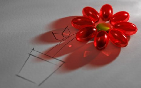 Red flower toy HD wallpaper