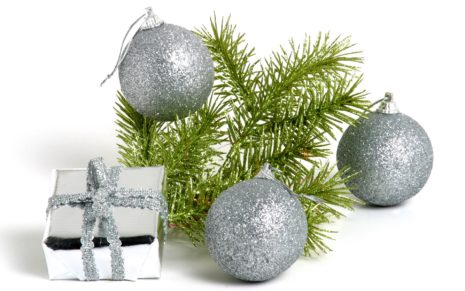 Silver Ball decoration HD wallpaper