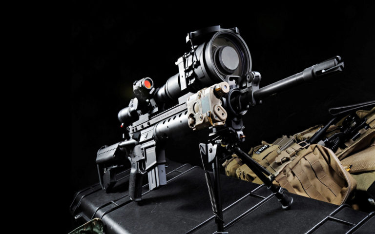 Sniper Rifle with backpack HD wallpaper