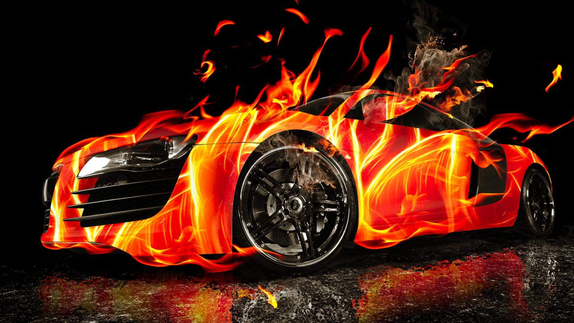 3d Car On Fire Hd Wallpaper Hd Latest Wallpapers