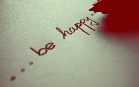 Be happy HD wallpaper