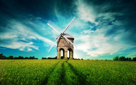 Beautiful Windmill HD wallpaper