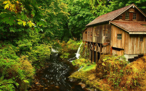 Cedar Creek Grist Mill, Washington HD wallpaper